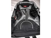 Grey and black power backpack
