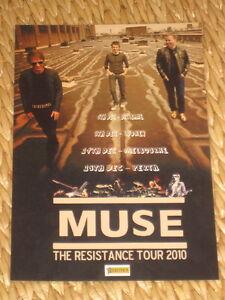 MUSE  -  2010 RESISTANCE  AUSTRALIAN  TOUR  -  PROMO TOUR POSTER