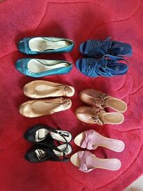 SHOES FOR SALE - 6 PAIRS, ALL LEATHER (NEXT, FAITH, RIVIER ISLAND) - £8 FOR ALL
