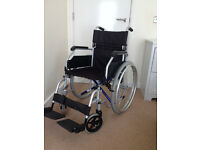 CareCo Aluminium AirGlide Wheelchair ( used for one month only-family visit)