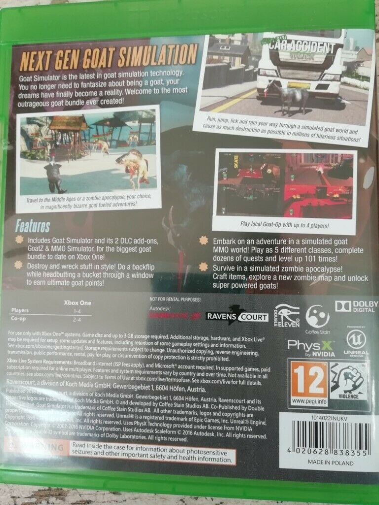 Goat Simulator: The Bundle (Xbox One) | in Clapham, London | Gumtree