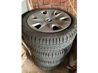 BMW Steel Wheels with Winter Run Flat Tyres