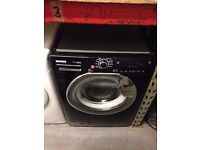 HOOVER WASHING MACHINE 9KG BLACK RECONDITIONED
