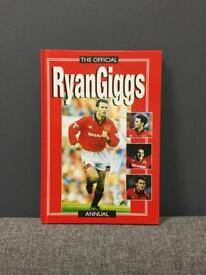 Rare vintage retro 1990s 90s RYAN GIGGS FOOTBALL ANNUAL BOOK Unclipped Wales Welsh SDHC