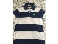 Abercrombie striped polo shirt size Large