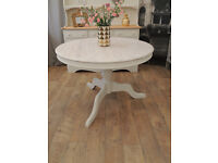 Beautiful solid pine shabby chic dining table for 4 people