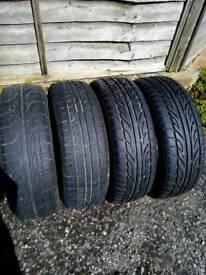 4 part worn tyres