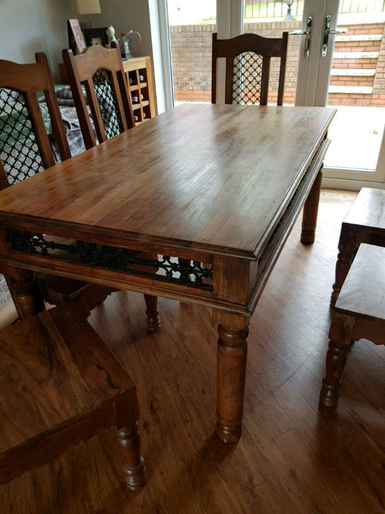 Indian Jali dining table and 6 chairs | in Carlton ...