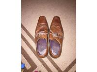 Men's brown leather lace up shoes