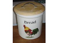 Vintage Cloverleaf Bread Crock/Bin