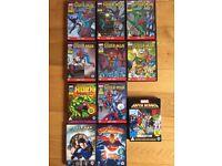 Superheroes DVDs -spiderman, superman, hulk etc -16 DVDs