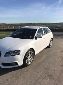 Audi A3 sline 2.0tdi white