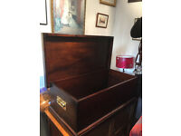 Blanket /Chest box must be seen . Great for storage . Solid brass handles on each side .