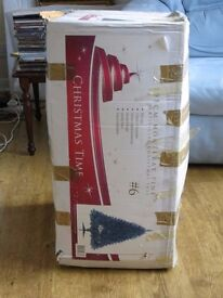 6 foot Christmas Tree in artificial pine with two sections, sturdy base and as new in the box