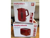 Morphy Richards Kettle and Toaster (Red)