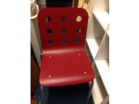 Ikea dining office kitchen chair Jule red