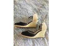 Red Herring espadrilles wedges size 5 (38)