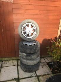 175/65 R14 ford alloys with good tread