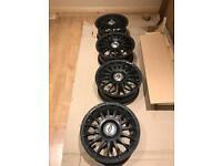 """Alloy Wheels x 4 (black) 15"""""""
