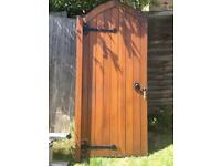Used, Garden gate/door solid oak for sale  Leigh-on-Sea, Essex