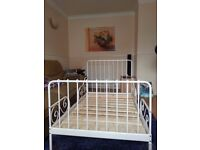 Fairly Used Extendable bed Frame with slatted bed base