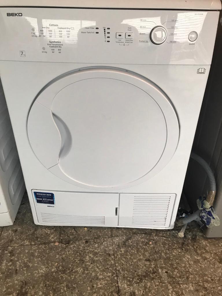 Beko condenser tumble dryer 7kg white