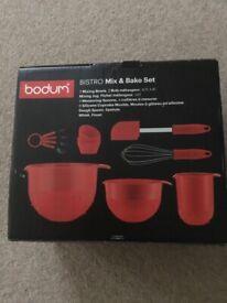Bodum Bistro Mix & Bake Red 7 Piece Set NEW