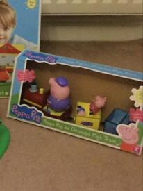 Peppa Pig on Grandpa Pigs Train. Boxed fab condition