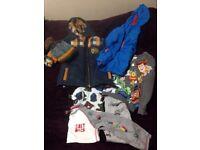 Boy bundle age 5 - 6 tops jackets salt rock toy story jcb coat rain jacket job lot kids