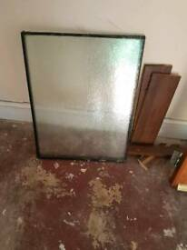 Double glazed window pane