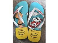Snoopy havaianas flip flops