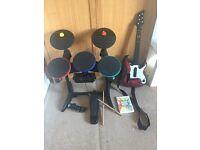 Wii band hero full set
