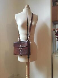Vintage brown leather bag. Originally a gun bag