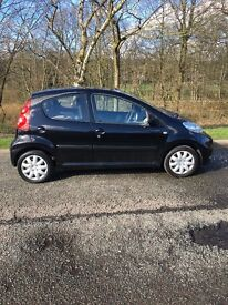 Peugeot 107 Urban, Metallic black, 58000 miles, 2 keys, MOT September 2017