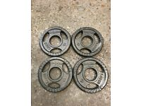 FREE DELIVERY FOUR BODYMAX 1.25KG OLYMPIC CAST IRON WEIGHT PLATES