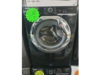 9kg load black hoover washing machine