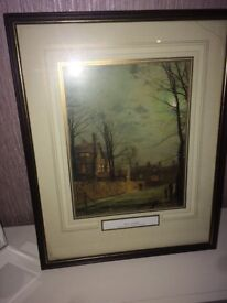 WINTER MOONLIGHT FRAMED PICTURE FOR SALE