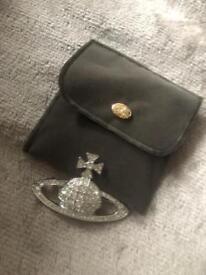 Vivienne Westwood silver diamond brooch