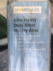 Heavy duty steel rotary airer