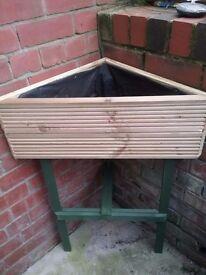wooden planter new