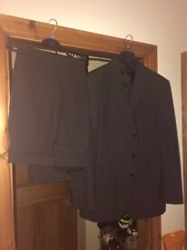Marks and Spencers charcoal two-piece suit