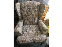 Fabric Wingback chair