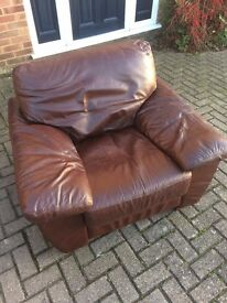 Brown Leather Sofa Suite