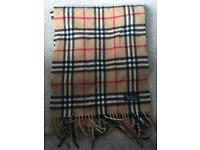 Genuine Authentic Burberry checked Scarf
