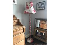 Standard Lamp and Shade Shabby chic