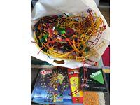 Job lot of Knex to make Ferris Wheel or Rocket Boost Roller Coaster