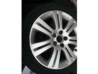 VAUXHALL VECTRA 17 INCH , 5 STUD,ALLOY WHEEL,7 TWIN BLADES , C/W GOOD TYRE,OFF 2007 VECTRA CDTI £20