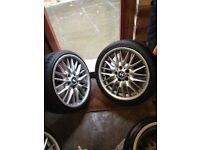 4x 18 inch BMW Alloys And Tyres M-Sport MV1 Alloys With Brand New Tyres