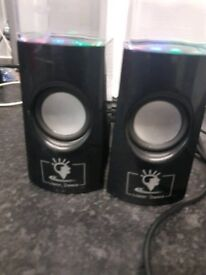 Computer Speakers Water Beat/Water Dance Speakers with 4 LED Colour Lights