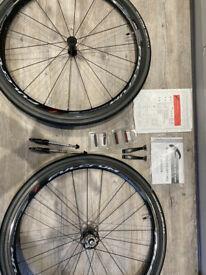 Fulcrum Racing Quattro Carbon Clincher Wheel Set - basically new - £1300 new
